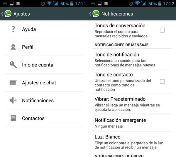 Editar la configuración de las notificaciones
