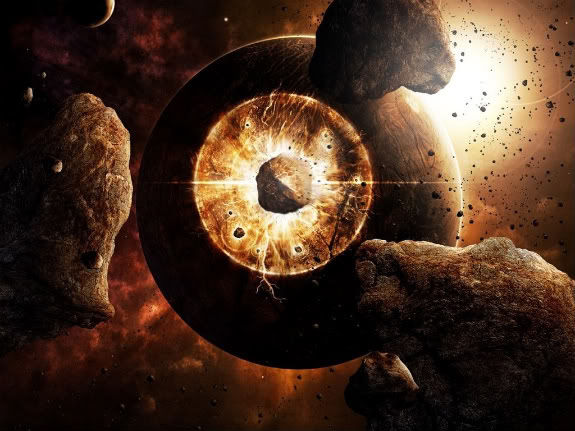 Supernova destruyendo tierra