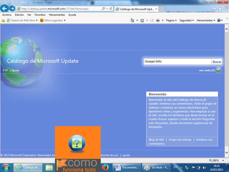 catalogo microsoft update deskjet 845c